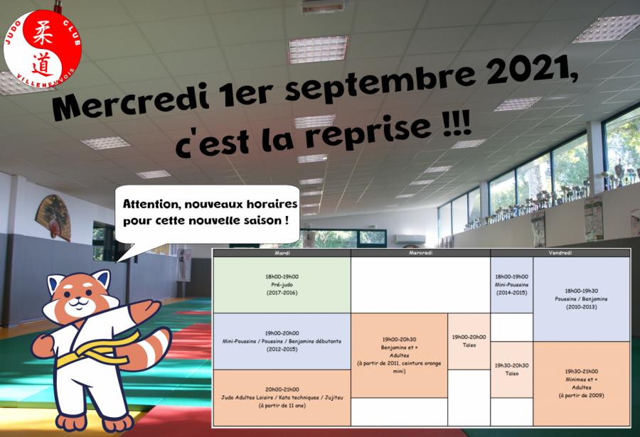 Mercredi 1er septembre : C'est la reprise !!!