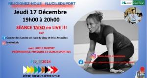 2nde séance taïso avec Lucile Duport ce jeudi 17/12