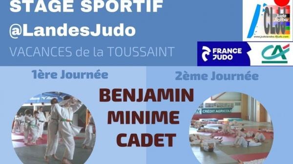 STAGE SPORTIF @LandesJudo Benjamins, Minimes, Cadets